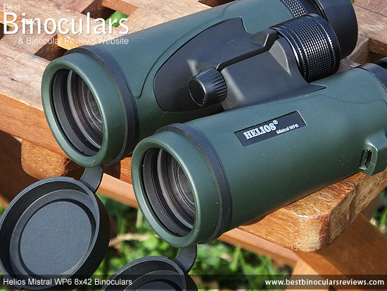 42mm Objective Lenses on the Helios Mistral WP6 8x42 Binoculars