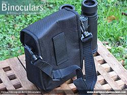 Rear view of the Carry Case & Helios Nitrosport 8x42 Binoculars