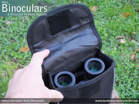 Inside the Helios Nitrosport 8x42 Binoculars Carry Case