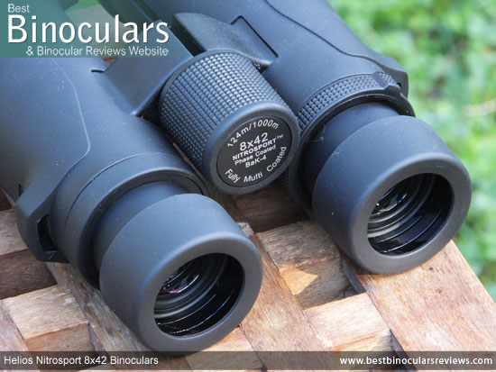 Focus Wheel on the Helios Nitrosport 8x42 Binoculars