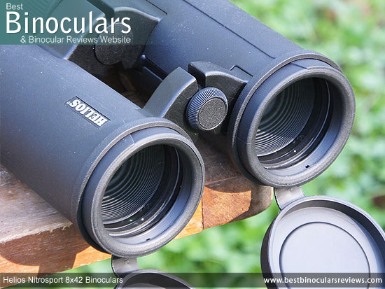 42mm Objective Lenses on the Helios Nitrosport 8x42 Binoculars
