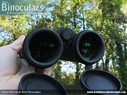 Reverse view through the Helios Nitrosport 8x42 Binoculars