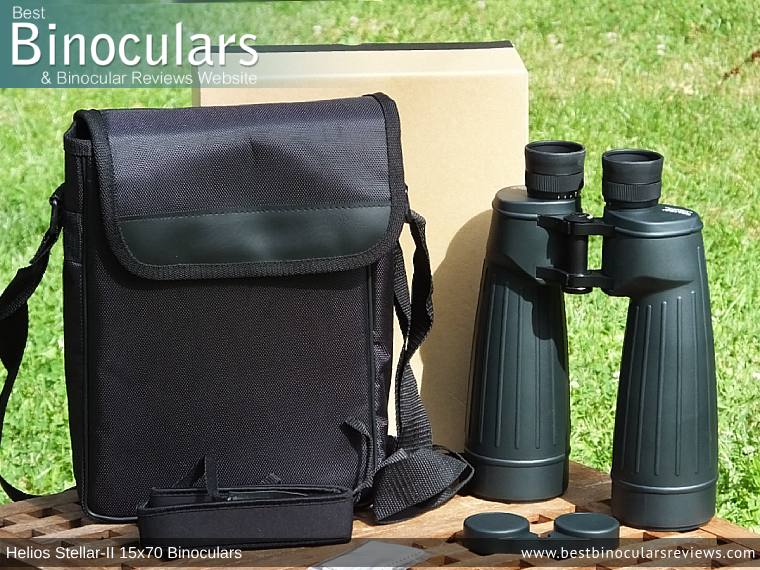 Accessories & Box for the Helios Stellar-II 15x70 Binoculars