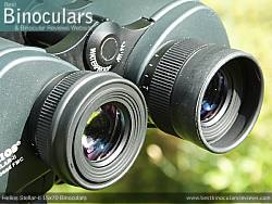 Fold-down eyecups on the Helios Stellar-II 15x70 Binoculars