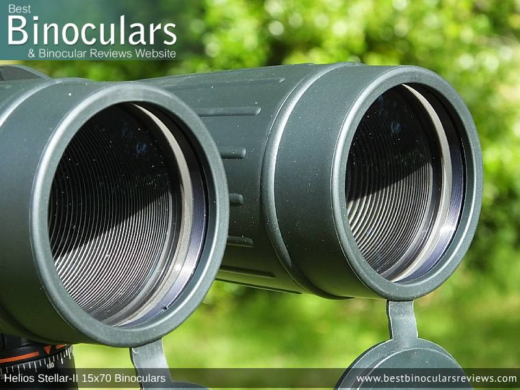70mm Lenses on the Helios Stellar-II 15x70 Binoculars