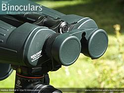 Rainguard on the Helios Stellar-II 15x70 Binoculars