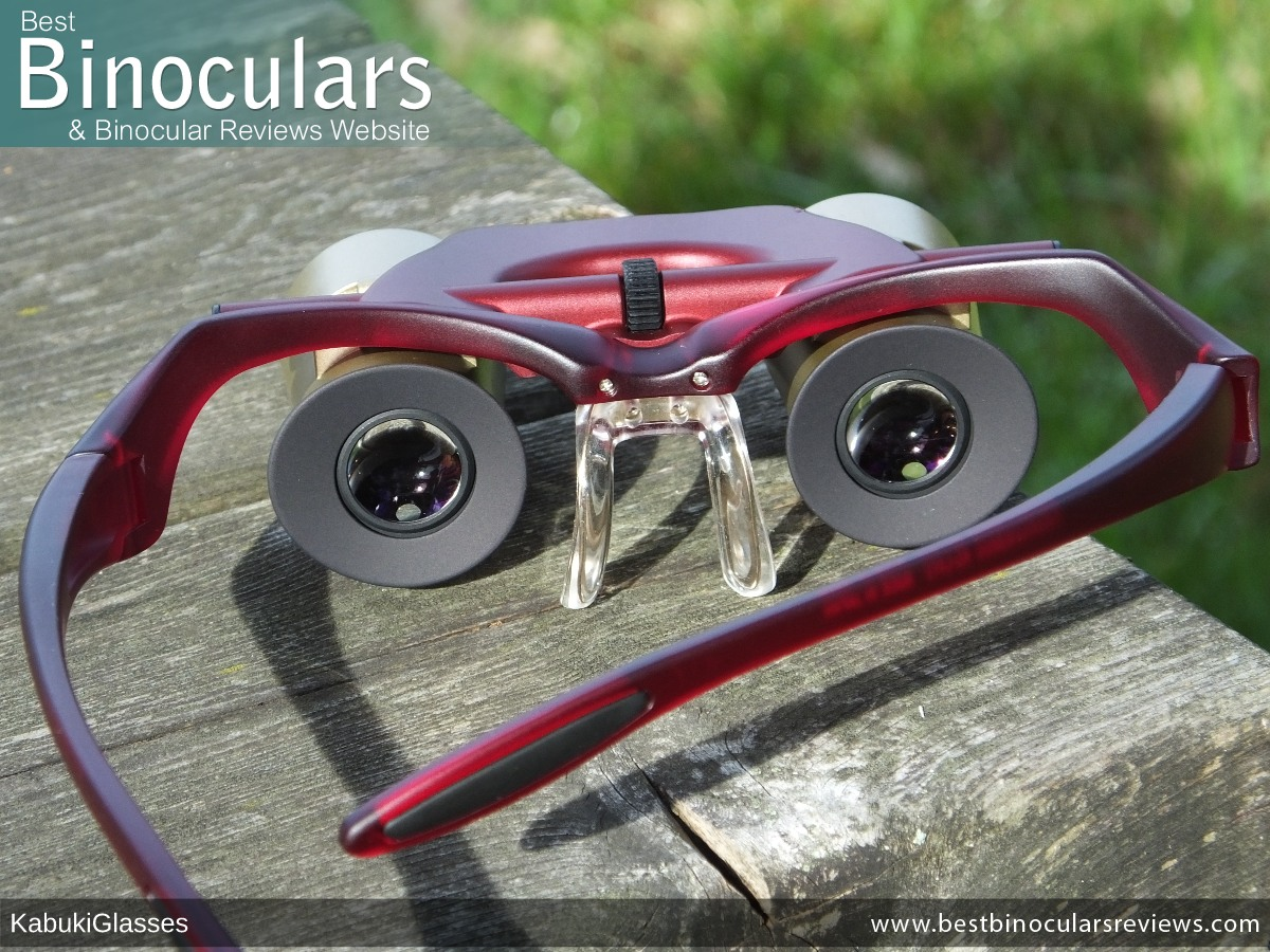 Rear view of the Kabuki Glasses By SANTEPLUS