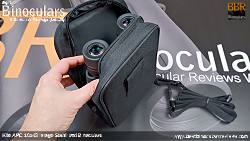 Inside and Rear of the Carry Case for the Kite APC 16x42 Image Stabilised Binoculars