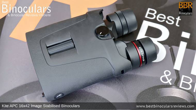 Focus Wheel on the Kite APC 16x42 Image Stabilised Binoculars