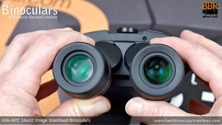IPD Adjustment on the Kite APC 16x42 Image Stabilised Binoculars