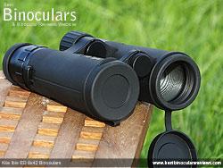Lens Covers on the Kite Ibis ED 8x42 Binoculars