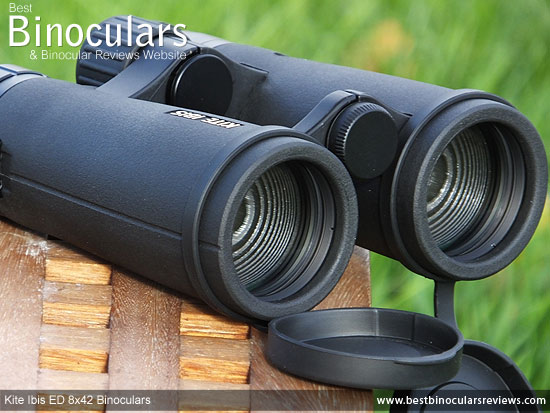 Objective Lenses on the Kite Ibis ED 8x42 Binoculars