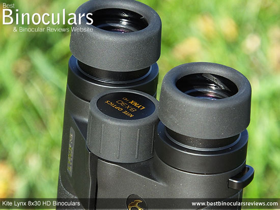 Focus wheel on the 8x30 Lynx HD Binoculars