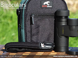 Neck Strap On the Kite Lynx HD Binoculars