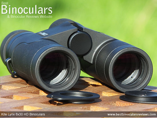 30mm objective lenses on these Kite Binoculars