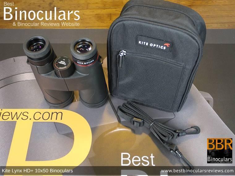 Inside the Kite Lynx HD+ 10x50 Binoculars Carry Case