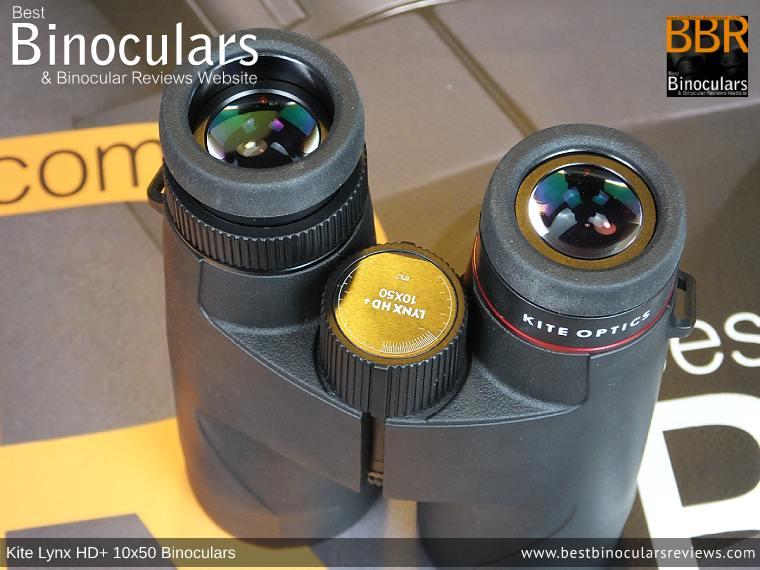 Eyecups on the Kite Lynx HD+ 10x50 Binoculars