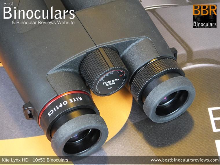 Focus Wheel on the Kite Lynx HD+ 10x50 Binoculars