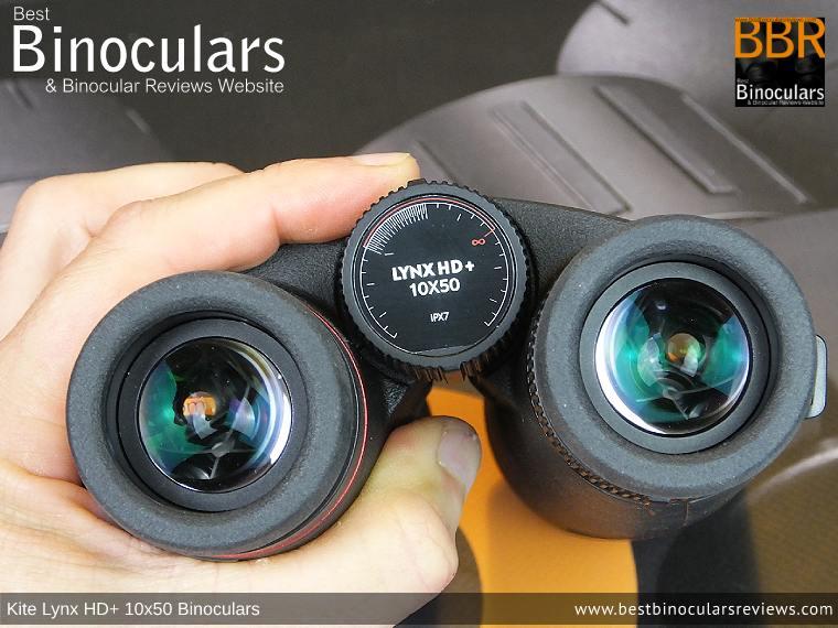 Adjusting the Focus Wheel on the Kite Lynx HD+ 10x50 Binoculars