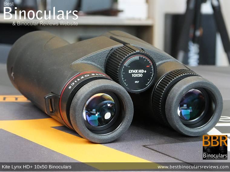 Ocular Lenses on the Kite Lynx HD+ 10x50 Binoculars