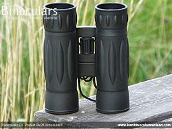 Underside of the Levenhuk Atom 10x25 Binoculars
