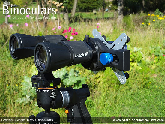 Digibinning with the Levenhuk Atom 10x50 Binoculars mounted on a tripod