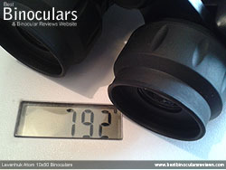 Weight of the Levenhuk Atom 10x50 Binoculars