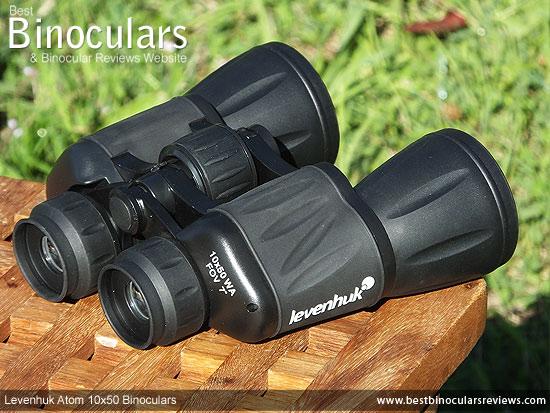 Rear view of the Levenhuk Atom 10x50 Binoculars