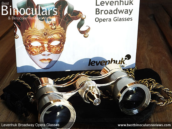 Levenhuk Broadway 325F Theatre Binoculars, with carry pouch and neck chain