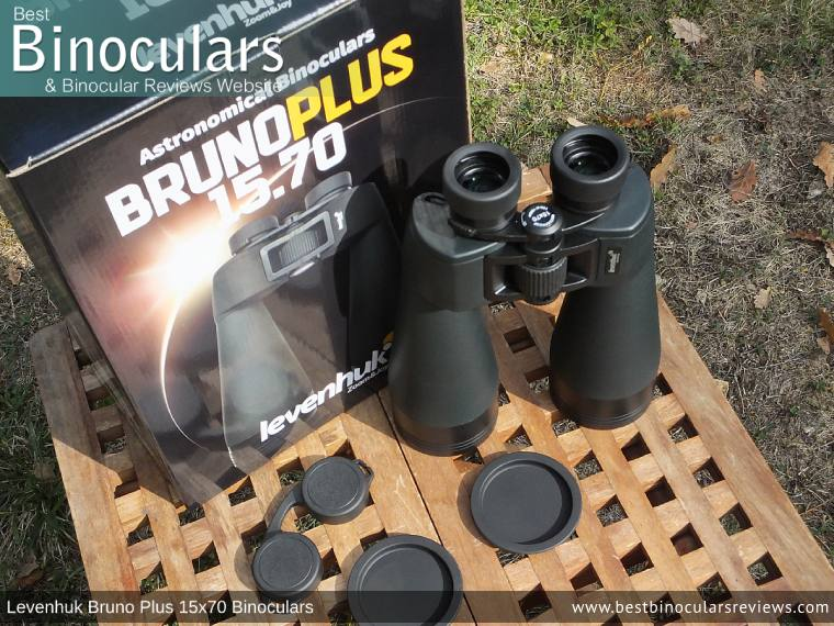 Levenhuk Bruno Plus 15x70 Binoculars and Accessories
