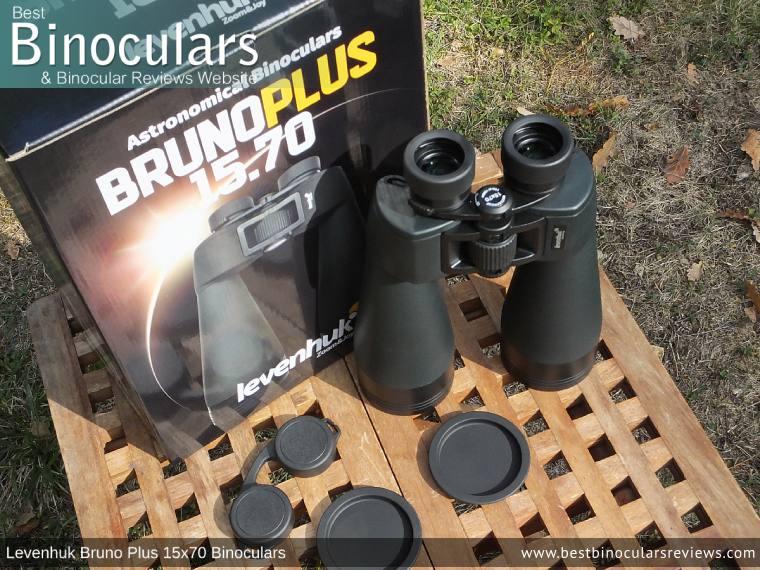 Levenhuk Bruno Plus 15x70 Binoculars and Accessories