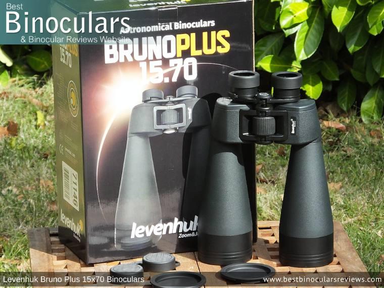 Accessories & Box for the Levenhuk Bruno Plus 15x70 Binoculars