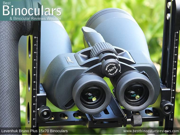 Levenhuk Bruno Plus 15x70 Binoculars on a tripod