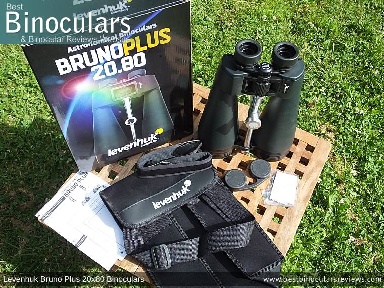 Levenhuk Bruno Plus 20x80 binoculars and Accessories