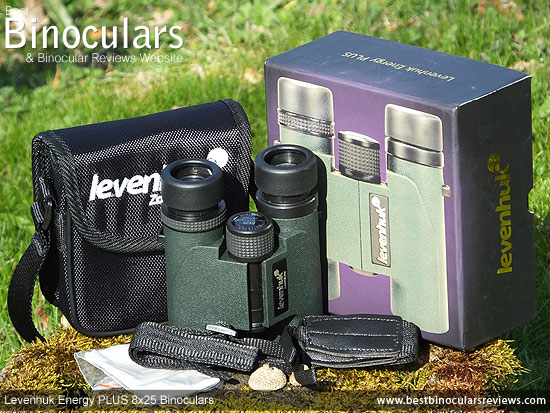Levenhuk Energy PLUS 8x25 Binoculars with neck strap and case