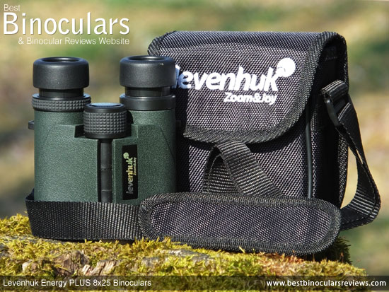 Carry Pouch and the Levenhuk Energy PLUS 8x25 Binoculars