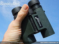 Levenhuk Energy PLUS 8x25 Binoculars in the hand
