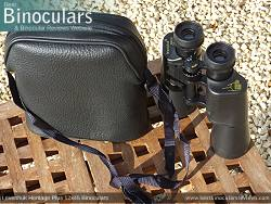 Rear view of the Carry Case & Levenhuk Heritage Plus 12x45 Binoculars