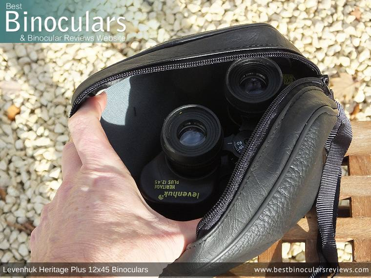 Inside the Levenhuk Heritage Plus 12x45 Binoculars Carry Case