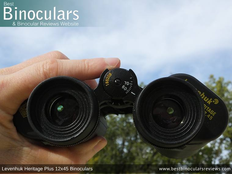Adjusting the Focus Wheel on the Levenhuk Heritage Plus 12x45 Binoculars