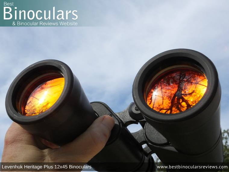 42mm Objective Lenses on the Levenhuk Heritage Plus 12x45 Binoculars