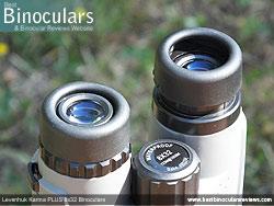 Eyecups on the Levenhuk Karma PLUS 8x32 Binoculars