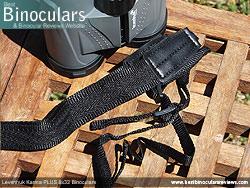 Neck strap on the Levenhuk Karma PLUS 8x32 Binoculars