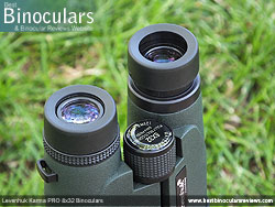 Eyecups on the Levenhuk Karma PRO 8x32 Binoculars