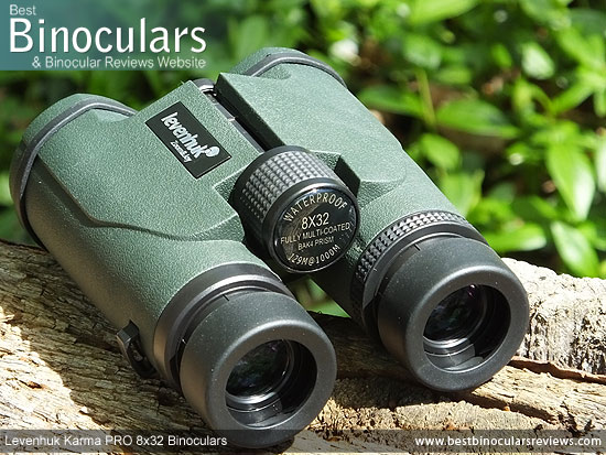 Focus Wheel on the Levenhuk Karma PRO 8x32 Binoculars