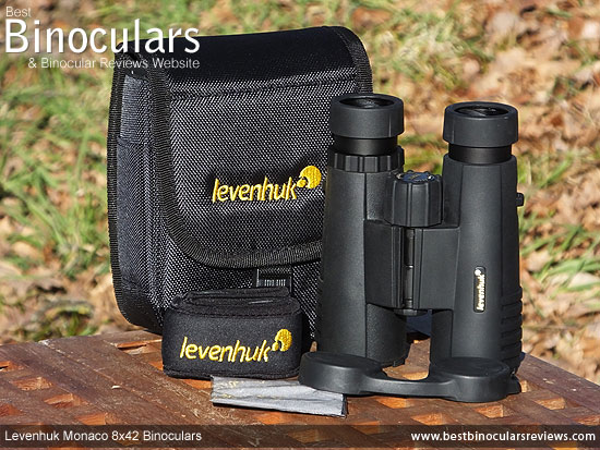 Carry Case & Neck Strap for the Levenhuk Monaco 8x42 Binoculars