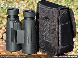 Rear view of the Carry Case for the Levenhuk Monaco 8x42 Binoculars