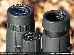 Eyecups on the Levenhuk Monaco 8x42 Binoculars
