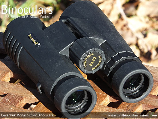 Focus Wheel on the Levenhuk Monaco 8x42 Binoculars
