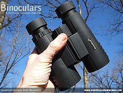 Rear of the Levenhuk Monaco 8x42 Binoculars